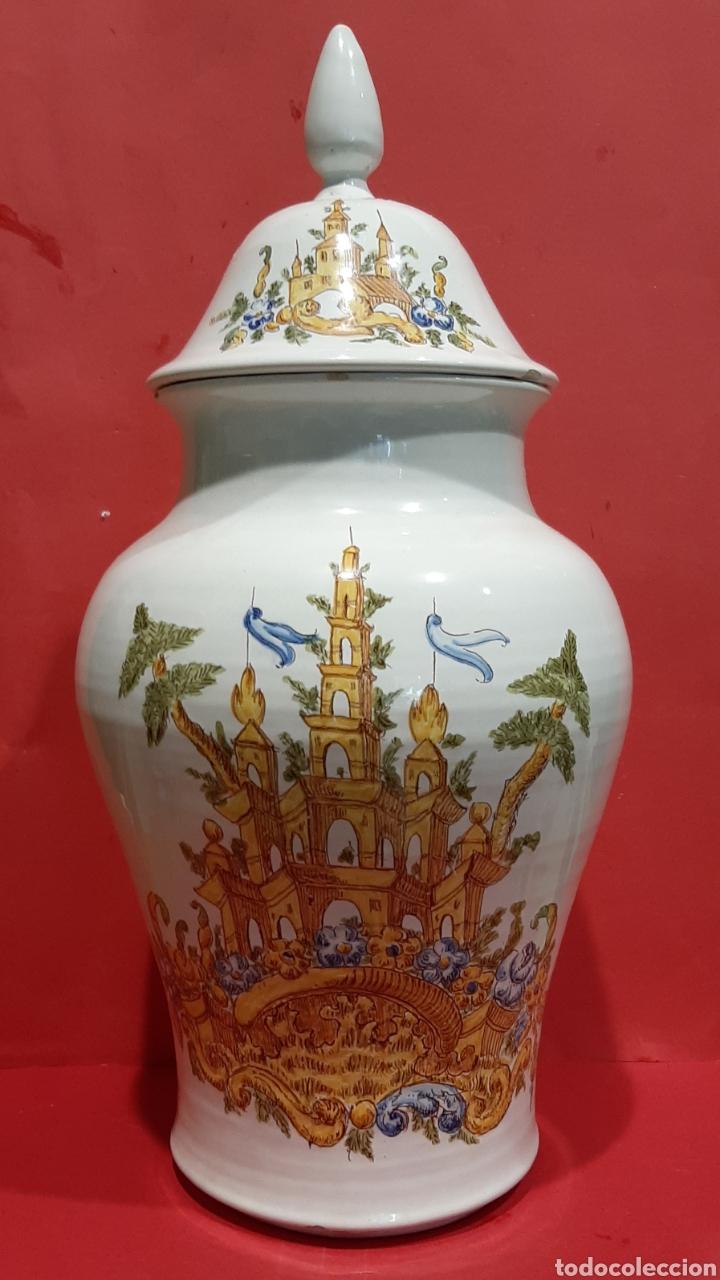 Antigüedades: ALCORA, PRECIOSO Y RARO BÚCARO DE CERÁMICA CON MARCAS. - Foto 2 - 211958431