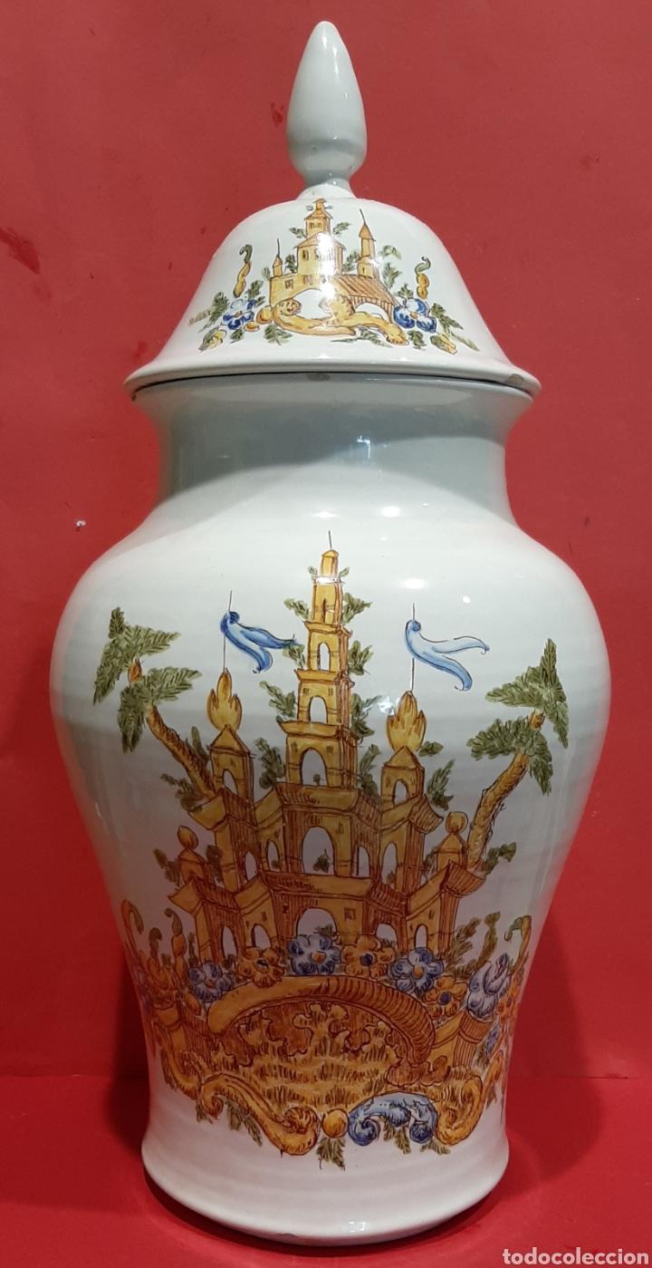 ALCORA, PRECIOSO Y RARO BÚCARO DE CERÁMICA CON MARCAS. (Antigüedades - Porcelanas y Cerámicas - Alcora)