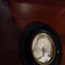 Antigüedades: MARCO BENDITERA OVALADO ESPUMA DE MAR. Lote 211971840