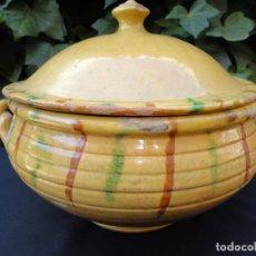 Antigüedades: ALFARERÍA CATALANA: SOPERA. Lote 211980776