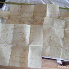 Antigüedades: JML LOTE 3 PATRONES PATRON COSTURA PUNTO DE CRUZ CADENETA VER FOTOS. CURIOSO. Lote 212003440
