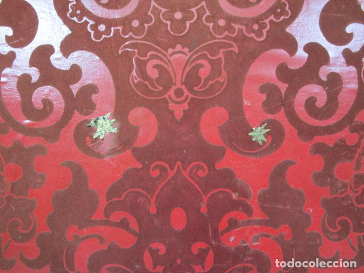 Antigüedades: Preciosa Capilla Carlos IV - Vitrina para Virgen, Santo - Madera Tallada y Dorada - S. XVIII-XIX - Foto 22 - 212005551