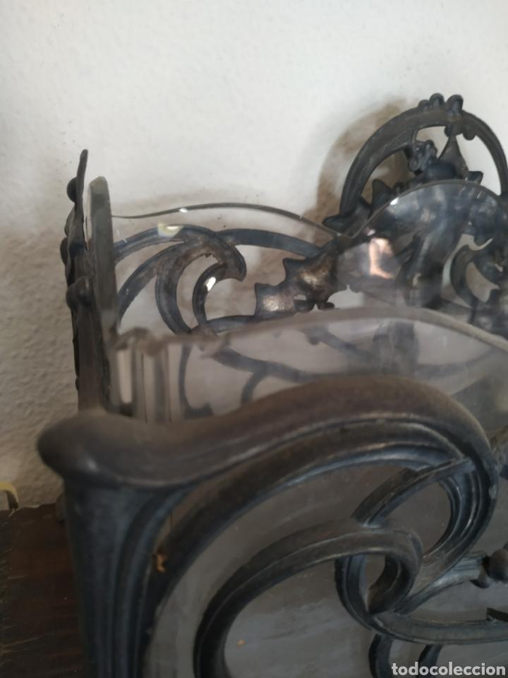 Antigüedades: Jardinera modernista en estaño y cristal .Circa 1900 - Foto 6 - 212011301