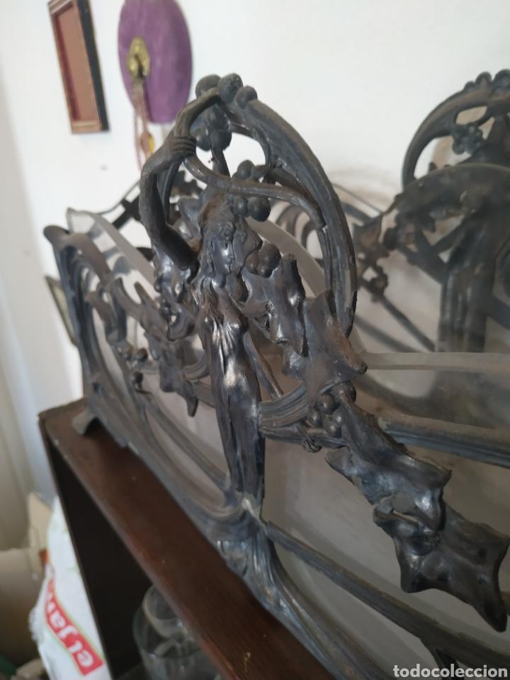 Antigüedades: Jardinera modernista en estaño y cristal .Circa 1900 - Foto 8 - 212011301