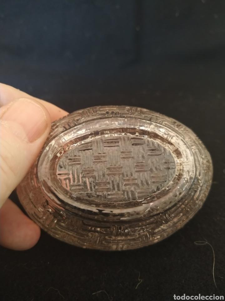 Antigüedades: Caja en cristal prensado de santa lucía .Primer cuarto siglo xx - Foto 6 - 212014881