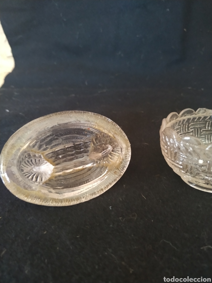 Antigüedades: Caja en cristal prensado de santa lucía .Primer cuarto siglo xx - Foto 7 - 212014881