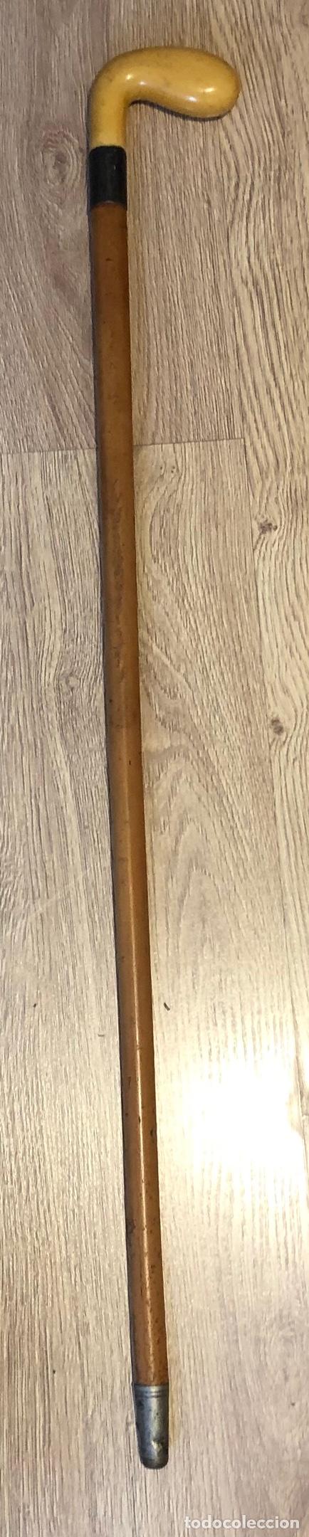 ANTIGUO BASTÓN CON EMPUÑADURA DE MARFIL, EN FORMA DE PALO DE GOLF. (Antigüedades - Moda - Bastones Antiguos)