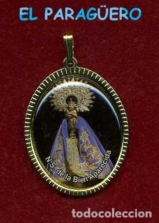 MEDALLA ORO DE NUESTRA SEÑORA DE LA BIEN APARECIDA - Nº19 (Antigüedades - Religiosas - Medallas Antiguas)