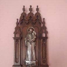 Antigüedades: BENDITERA DE PARED CON SAN ANTONIO. Lote 212050496