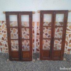 Antigüedades: PUERTAS ANTIGUAS DE ALACENA CON SU MARCO Y CON TODOS SUS CIERRES - ESTILO RUSTICO - PRECIOSAS. Lote 212068825