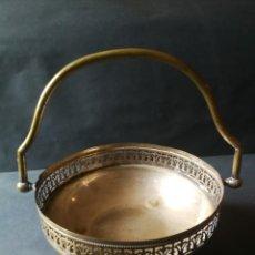 Antigüedades: CESTO ANTIGUO METÁLICO. Lote 212090745