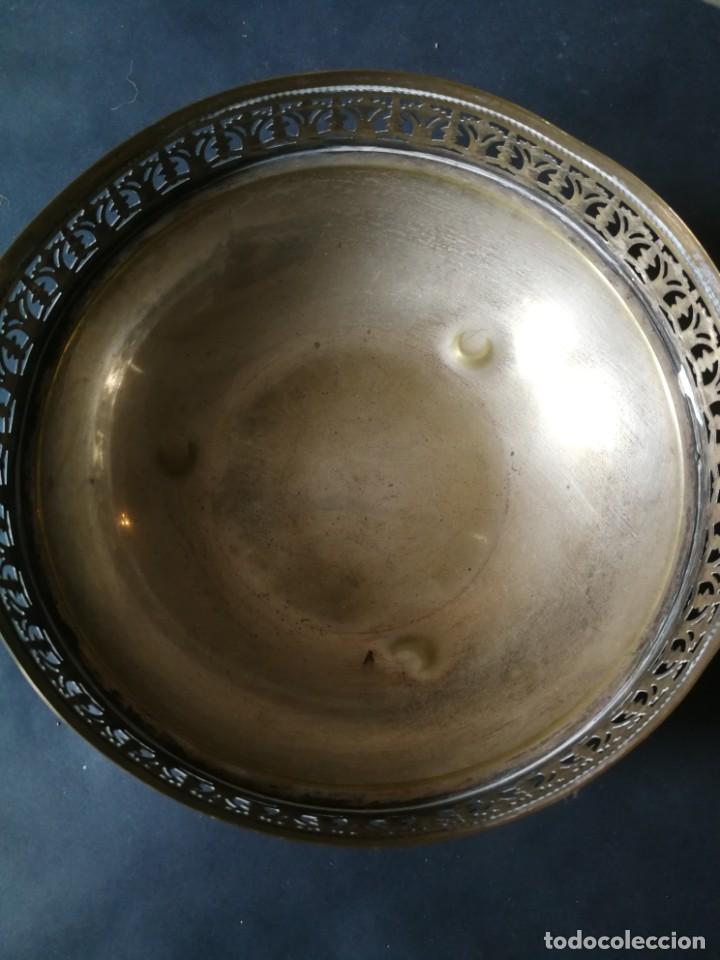 Antigüedades: Cesto antiguo metálico - Foto 7 - 212090745