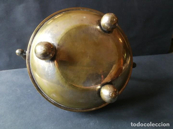 Antigüedades: Cesto antiguo metálico - Foto 8 - 212090745