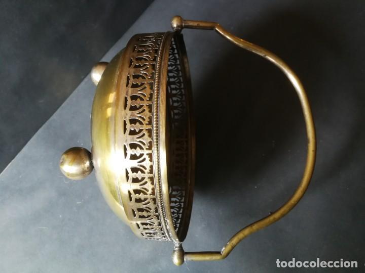 Antigüedades: Cesto antiguo metálico - Foto 10 - 212090745