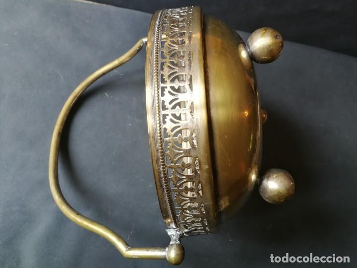 Antigüedades: Cesto antiguo metálico - Foto 11 - 212090745
