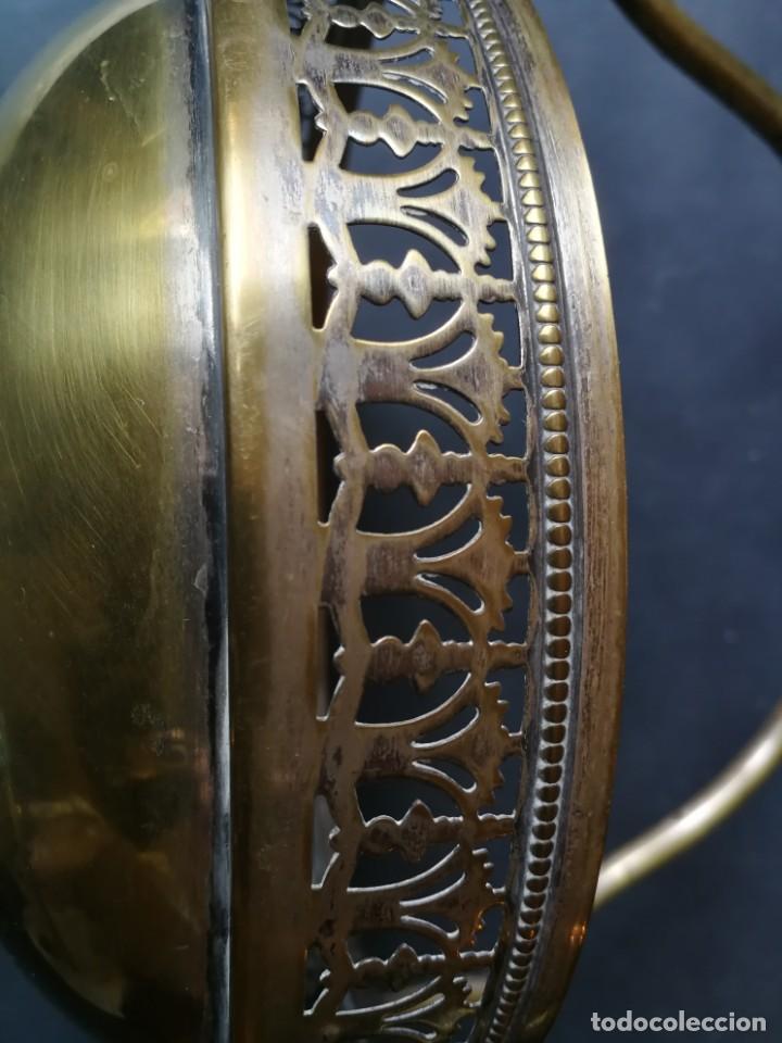 Antigüedades: Cesto antiguo metálico - Foto 12 - 212090745