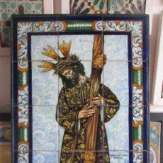 Antigüedades: RETABLO CERAMICO AZULEJOS (GRAN PODER). Lote 212115656