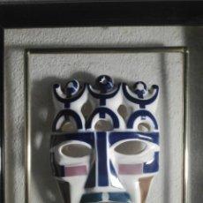 Antigüedades: MÁSCARA ENMARCADA DE SARGADELOS. Lote 212127787