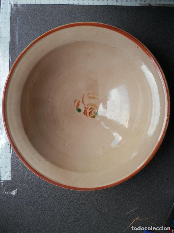 CERÁMICA LA BISBAL CUENCO GRAN TAMAÑO 28 CENTÍMETROS TAMAÑO Y UN KILO DE PESO - ANTIGUA (Antigüedades - Porcelanas y Cerámicas - La Bisbal)