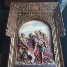 Antigüedades: ESTACION VII DE VIA CRUCIS. Lote 212160913