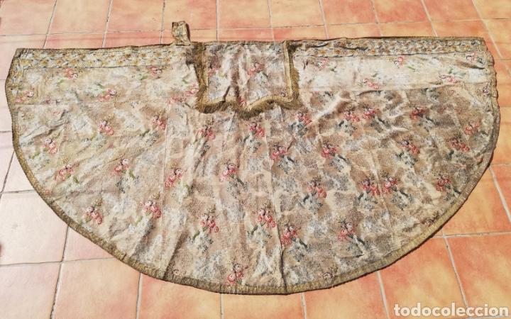 Antigüedades: Magnífica capa pluvial de espolin siglo XVIII - Foto 2 - 212164621
