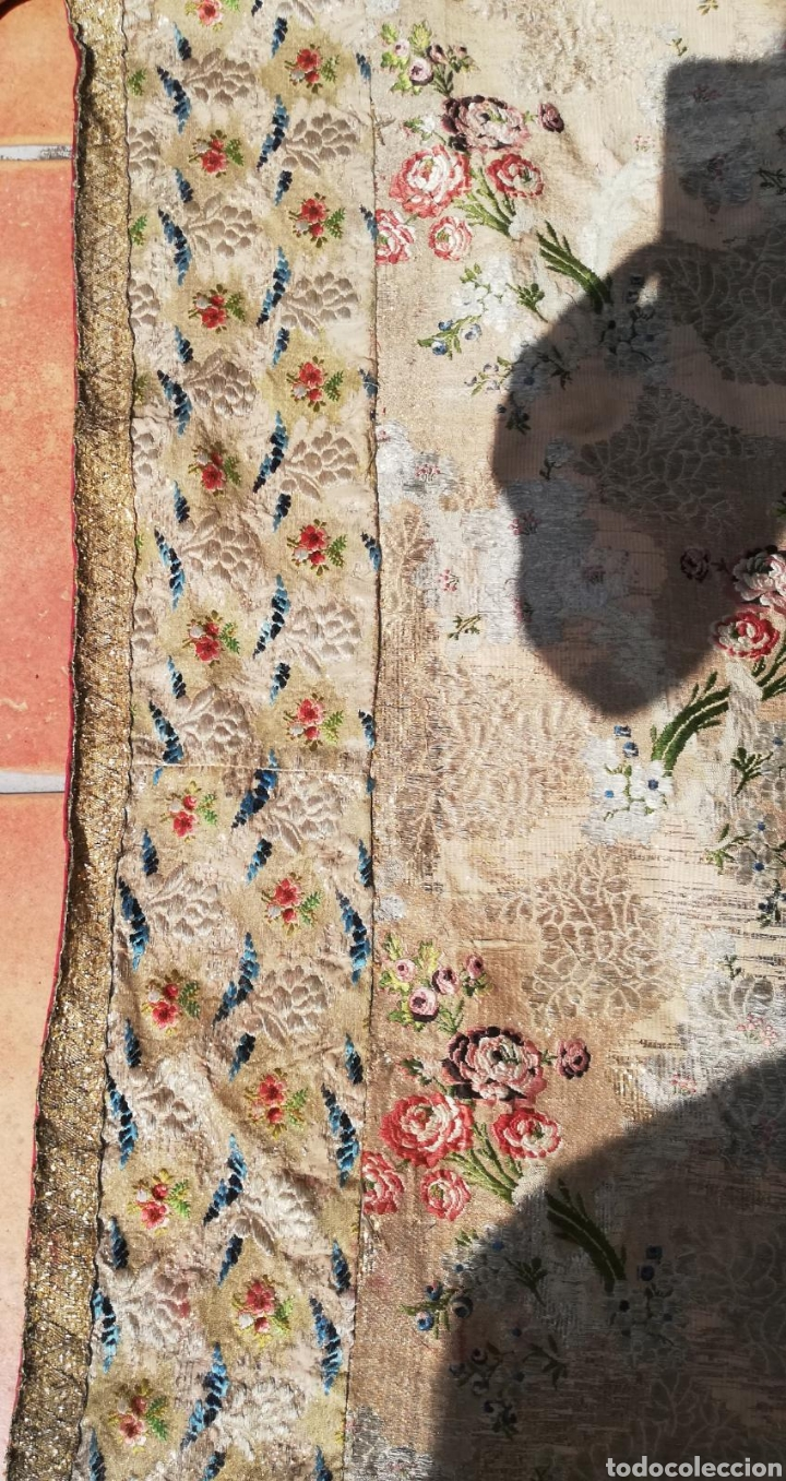 Antigüedades: Magnífica capa pluvial de espolin siglo XVIII - Foto 7 - 212164621