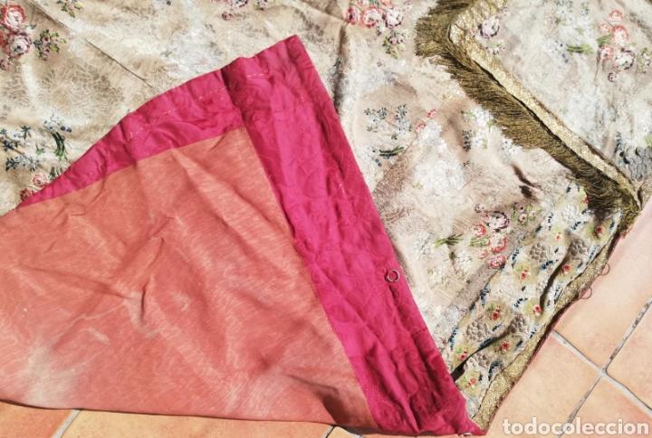 Antigüedades: Magnífica capa pluvial de espolin siglo XVIII - Foto 8 - 212164621