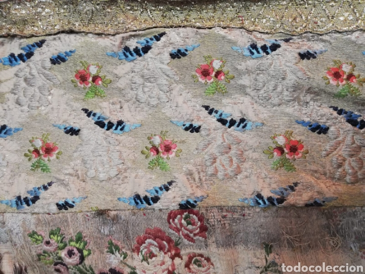Antigüedades: Magnífica capa pluvial de espolin siglo XVIII - Foto 9 - 212164621