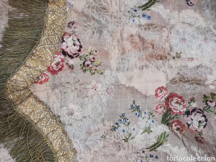 Antigüedades: Magnífica capa pluvial de espolin siglo XVIII - Foto 10 - 212164621