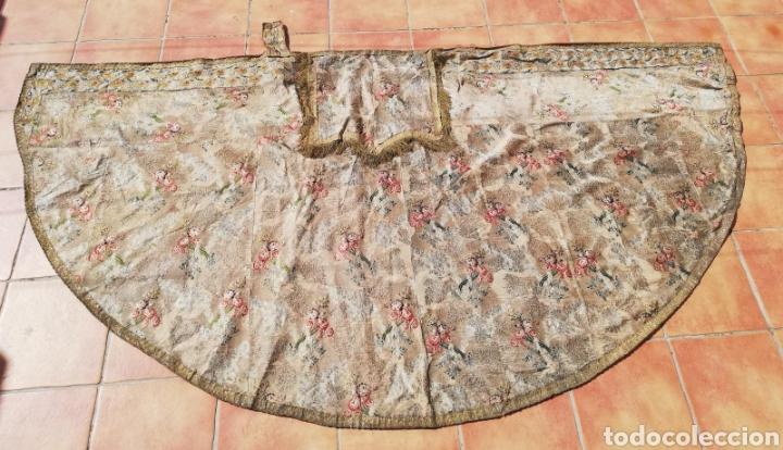 Antigüedades: Magnífica capa pluvial de espolin siglo XVIII - Foto 14 - 212164621