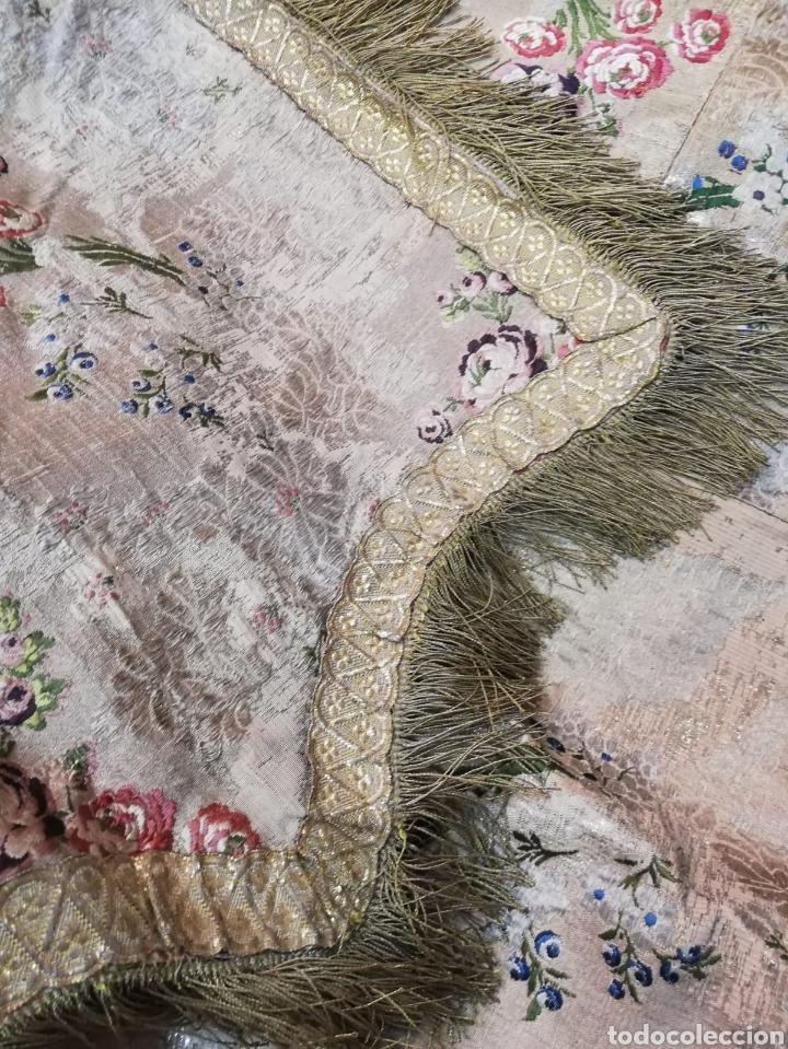 Antigüedades: Magnífica capa pluvial de espolin siglo XVIII - Foto 15 - 212164621