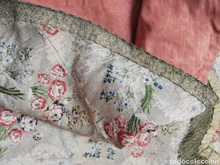 Antigüedades: Magnífica capa pluvial de espolin siglo XVIII - Foto 16 - 212164621