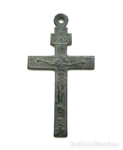 ANTIGUA CRUZ CON INSTRUMENTOS DE PASIÓN (SIGLO XIX) (Antigüedades - Religiosas - Crucifijos Antiguos)