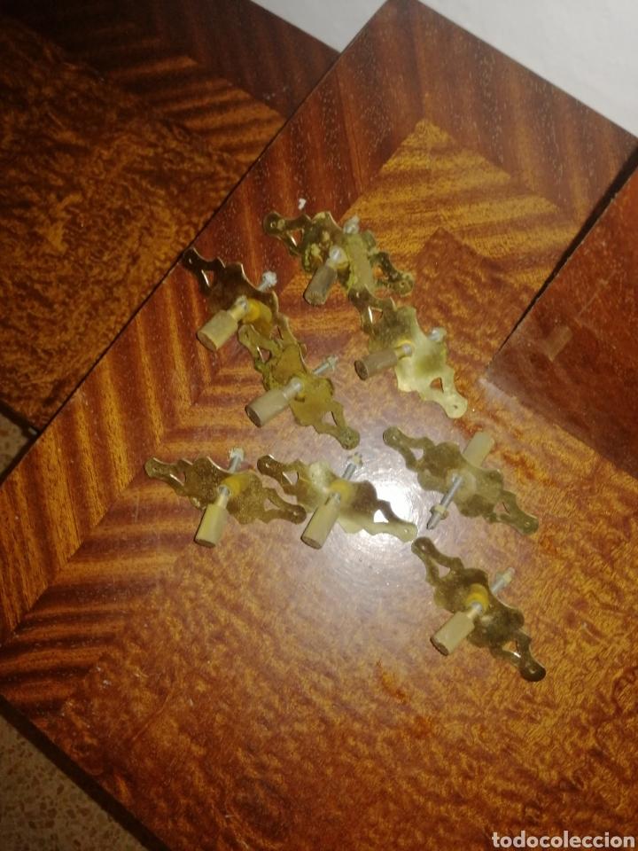Antigüedades: Conjunto 2 mesitas, comoda y espejo - Foto 4 - 212202775