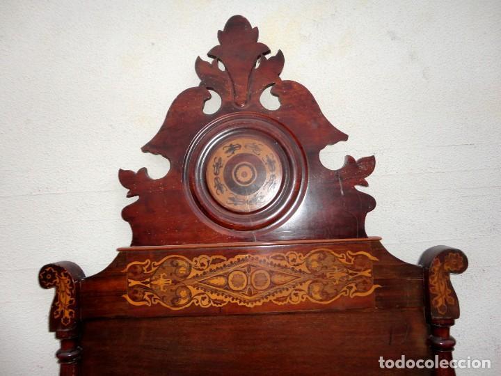 Antigüedades: Cama Fernandina en madera de caoba con marqueteria - Foto 2 - 212206882