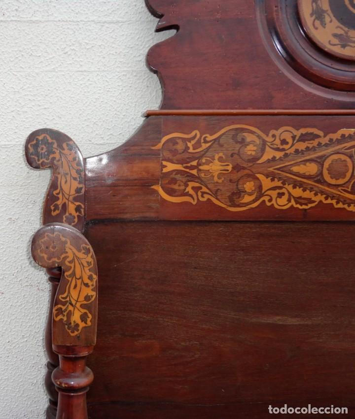 Antigüedades: Cama Fernandina en madera de caoba con marqueteria - Foto 9 - 212206882