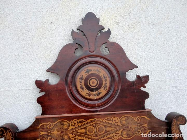 Antigüedades: Cama Fernandina en madera de caoba con marqueteria - Foto 10 - 212206882