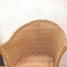 Antigüedades: SILLÓN DE RATÁN CON ESTRUCTURA DE BAMBÚ. Lote 212218395