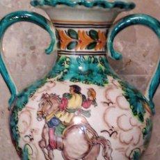 Antigüedades: ~~~~ ESPECTACULAR JARRÓN - ÁNFORA CON PIE, SELLADO PUENTE DEL ARZOBISPO, MIDE TOTAL 80 CM. ~~~~. Lote 212244797