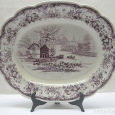 Antigüedades: MUY RARA FUENTE DE LOZA W.S & CO. STAFFORD POTTERY Nº 16 WEDGEWOOD 1825 - 1848 GENEVESE. Lote 212260908