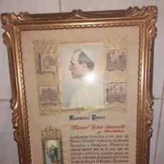 Antigüedades: RELICARIO, CUADRO MADERA PAN DE ORO.. Lote 212275902