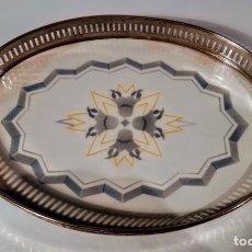 Antigüedades: BANDEJA DE MAYOLICA OVALADA. Lote 212280595