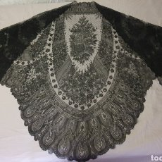 Antigüedades: MARAVILLOSO PICO-MANTILLA ANTIGUO DE CHANTILLY FRANCES. Lote 212292355