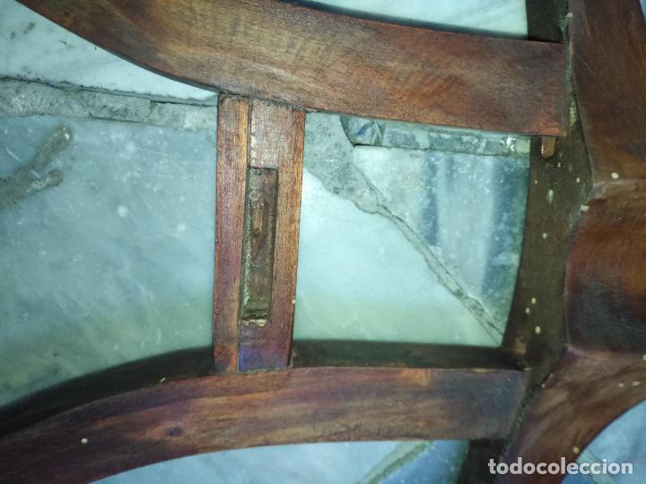 Antigüedades: precioso galan de noche , madera, tiene algujeros y boquete de polilla ver fotos ideal restauradore - Foto 7 - 19890984