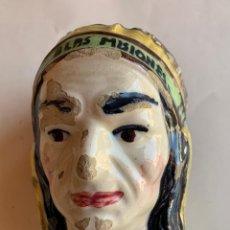 Antigüedades: ANTIGUA HUCHA DOMUND , INDIO CON PENACHO PLUMAS . AYUDAD A LAS MISIONES .. Lote 212303051