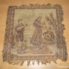Antigüedades: ANTIGUO TAPIZ DE 44 X 44 CM APROXIMADOS. Lote 212325742