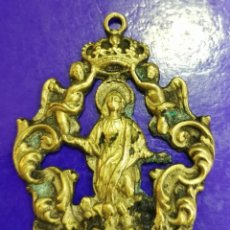 Antigüedades: ANTIQUISIMA MEDALLA DE LA ASUNCION DE CANTILLANA, PROBABLE SIGLO XIX, 7X5 CMS. Lote 212327457