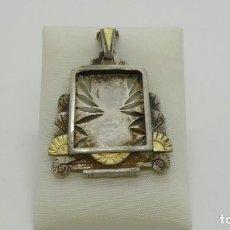 Antiquités: COLGANTE RELICARIO EN PLATA VIEJA.. Lote 212330985