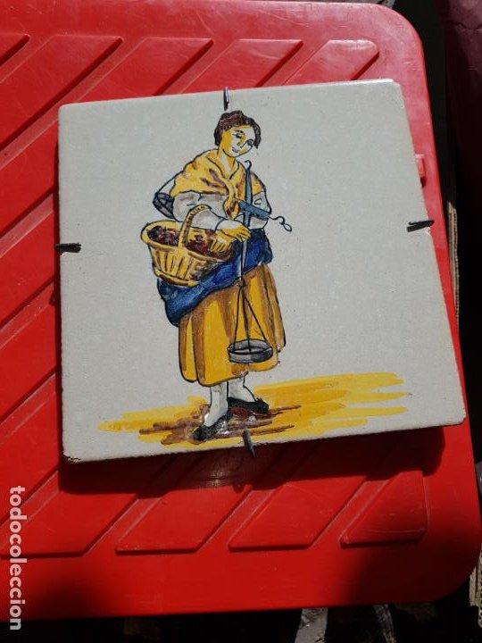 AZULEJO DE MANISES (Antigüedades - Porcelanas y Cerámicas - Azulejos)