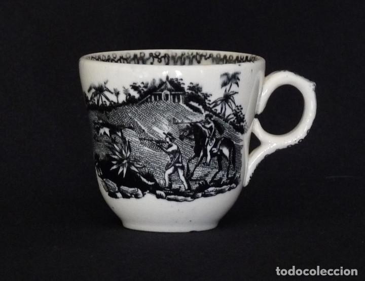 TACITA DE CERAMICA DE CARTAGENA PARA CAFÉ O CHOCOLATE (Antigüedades - Porcelanas y Cerámicas - Cartagena)